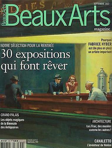 Beaux arts magazine September 2012