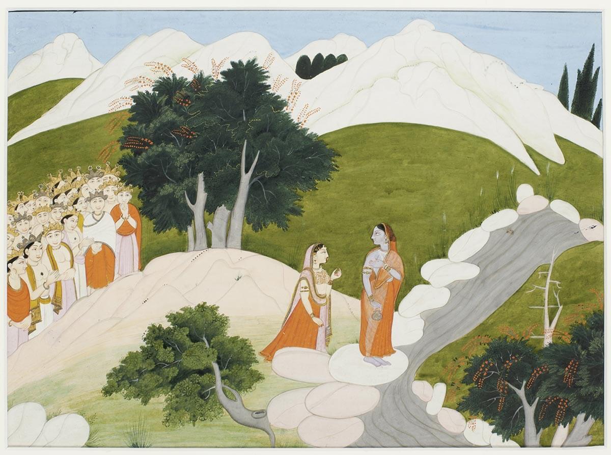L'apparition de Durga devant l'assemblée des dieux