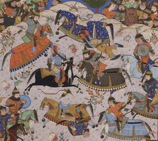 Miniature représentant une scène de bataille