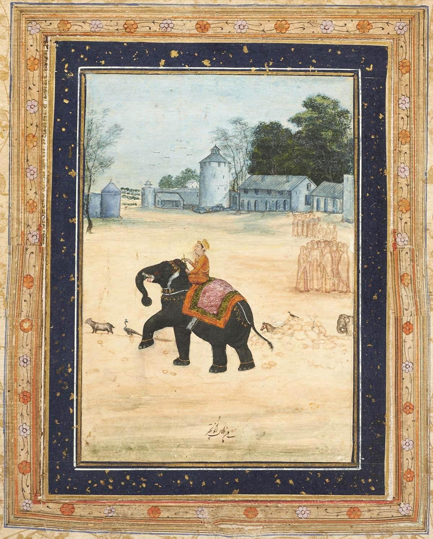 Dignitaire mogol à dos d'éléphant