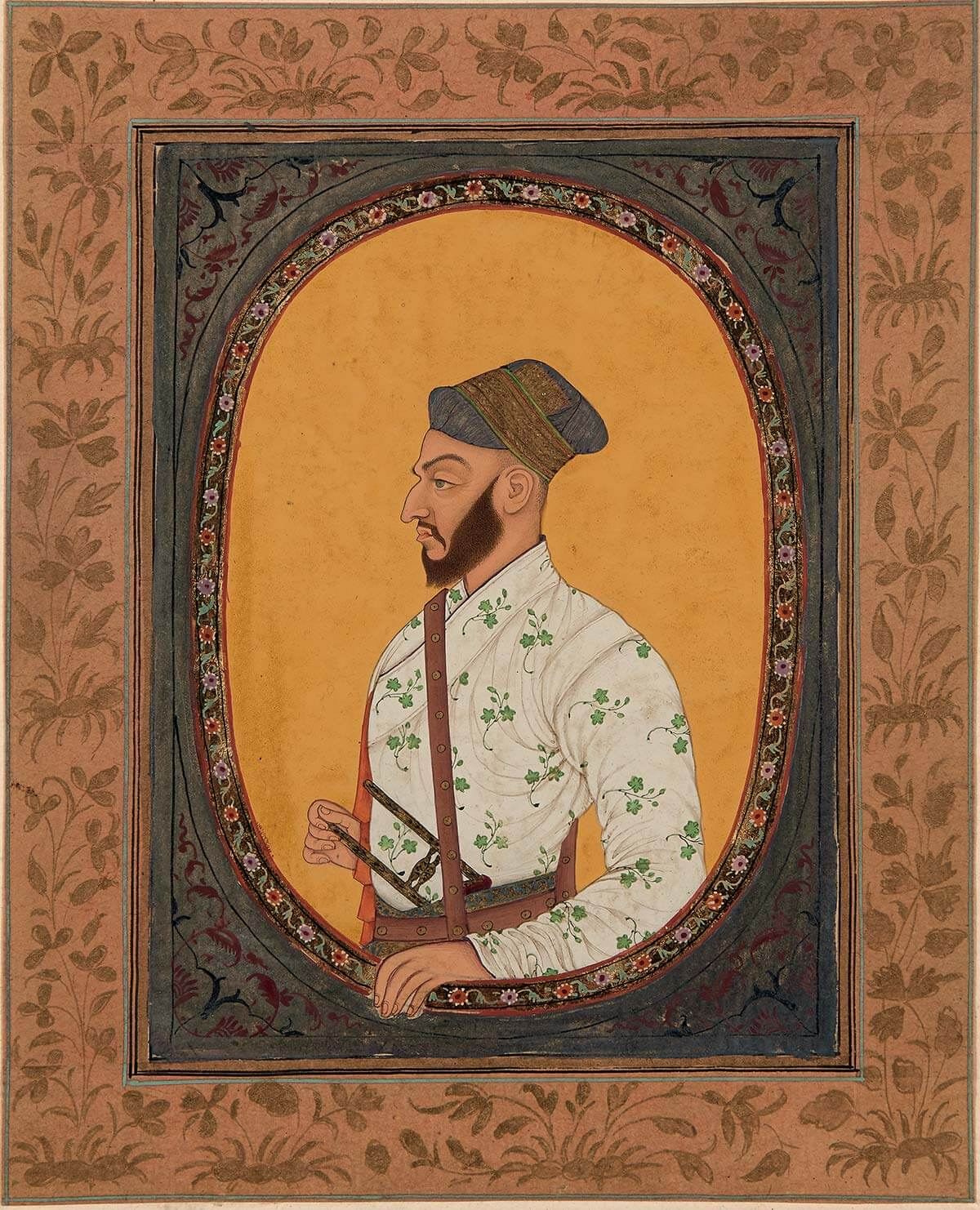 Portrait de Saf-shikan Khan, vizir de l'empereur Aurangzeb