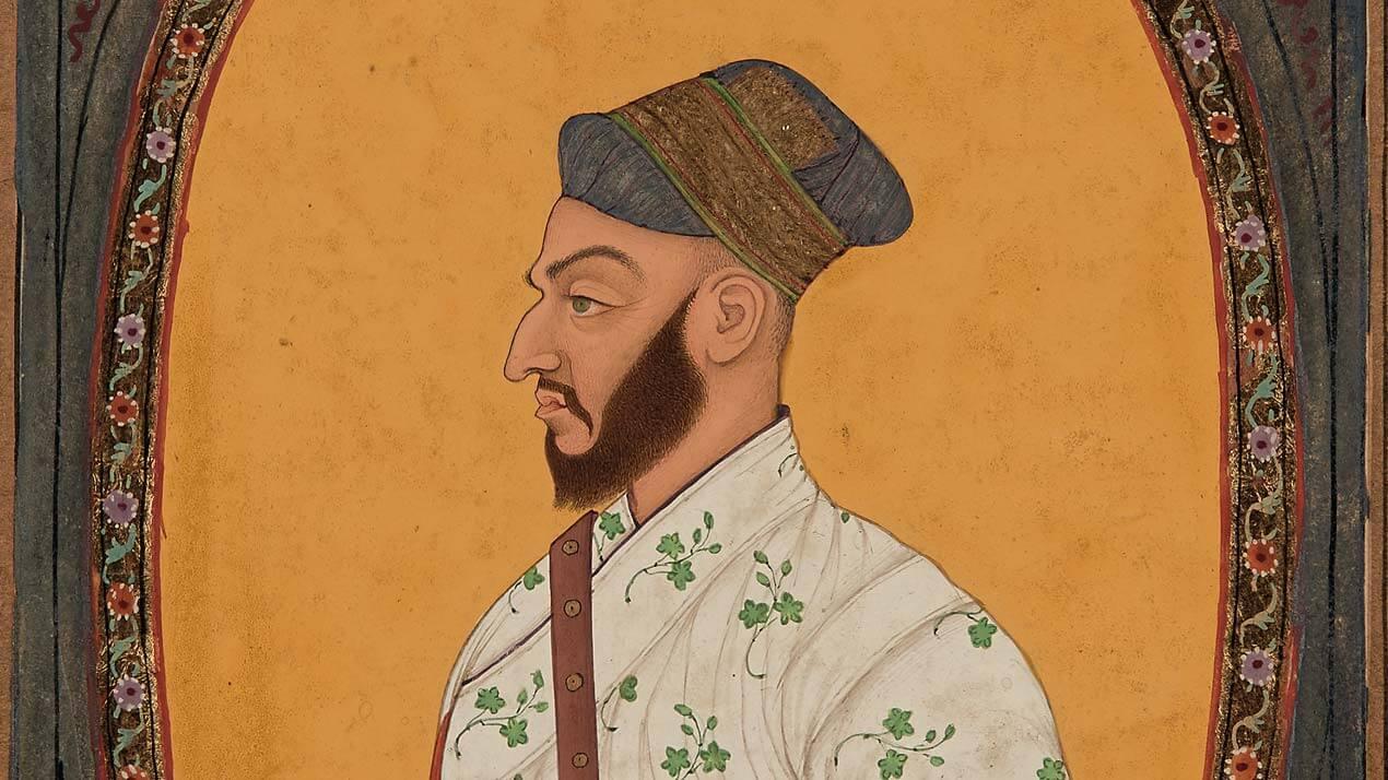 Miniature : Portrait de Saf-shikan Khan, vizir de l'empereur Aurangzeb