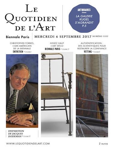 Le Quotidien de l'Art September 2017